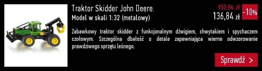 Traktor Skidder John Deere. Model w skali 1:32 (metalowy).