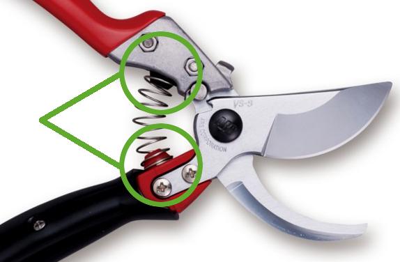 Amortyzatory wstrząsów w sekatorach i nożycach ARS