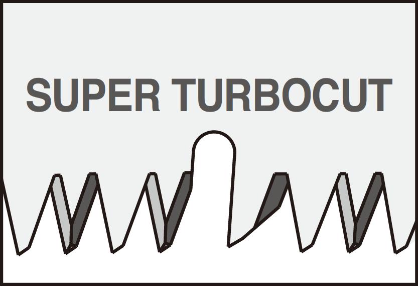Super TURBOCUT - zęby tnące ostre w 3 płaszczyznach, specjalny kształt UV