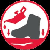 Podeszwa odporna na chemikalia - buty antyprzecięciowe