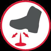 Podeszwa odporna na przebicie w butach OREGON