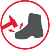 Metalowa osłona palców w butach antyprzecięciowych