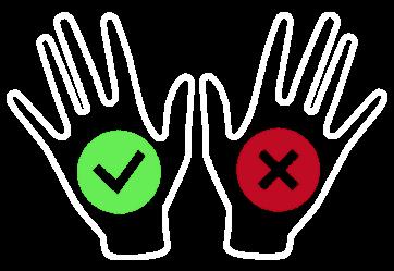 Ochrona antyprzecięciowa lewej dłoni