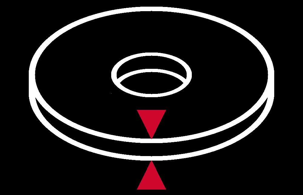 Grubość tarczy szlifierskiej (wyrażona w milimetrach)