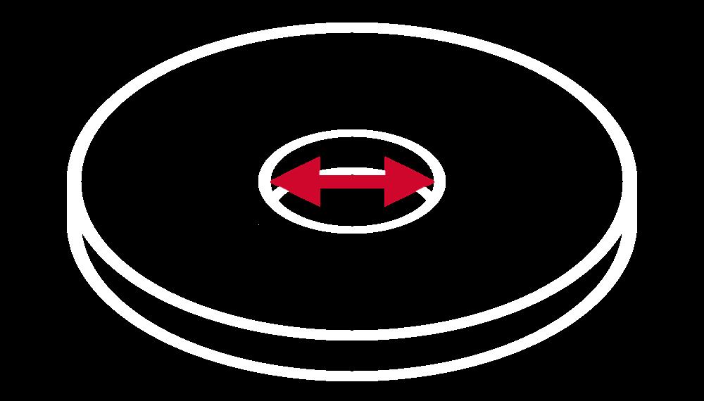 Średnica otworu montażowego tarczy ściernej (wyrażona w milimetrach)